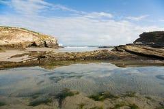 Playa de Las Catedrales Immagini Stock Libere da Diritti