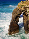 Playa de las Catedrales arch Stock Images