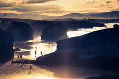 Playa de las Catedrales - Beautiful beach in the north of Spain. Stock Photography