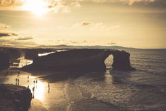 Playa de las Catedrales - Beautiful beach in the north of Spain. Royalty Free Stock Images
