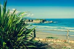 Playa de las Catedrales - Beautiful beach in the north of Spain. Stock Image