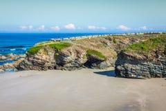 Playa de las Catedrales - Beautiful beach in the north of Spain. Royalty Free Stock Photos