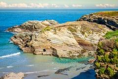 Playa de las Catedrales - Beautiful beach in the north of Spain. Royalty Free Stock Image