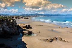 Playa de las Catedrales - Beautiful beach in the north of Spain. Stock Images