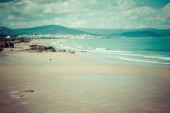 Playa de las Catedrales - Beautiful beach in the north of Spain. Royalty Free Stock Photo