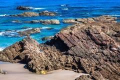 Playa de las Catedrales - Beautiful beach in the north of Spain. Stock Photos