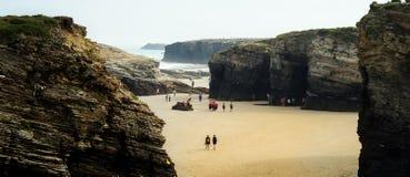 Playa de las catedrales, Cantabria, España foto de archivo
