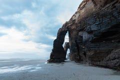 Playa de las catedrales en España foto de archivo