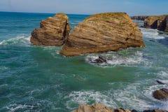Playa de las catedrales Lugo España europa fotos de archivo libres de regalías