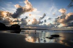 Playa de las Catedrales - playa de las catedrales Imagenes de archivo