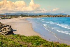 Playa de Las Catedrales - schöner Strand im Norden von Spanien Stockbild