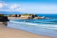 Playa de Las Catedrales - schöner Strand im Norden von Spanien Lizenzfreies Stockfoto