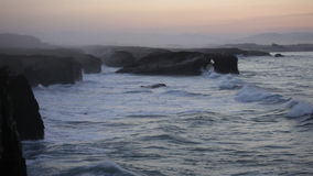 Playa de las Catedrales, Royalty Free Stock Photography