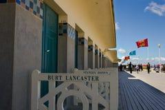 Playa de las celebridades de Deauville imagen de archivo