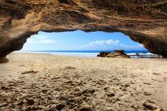 Playa de las cuevas, NSW Australia Fotos de archivo libres de regalías