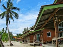 Playa de las palmas de coco Fotos de archivo libres de regalías