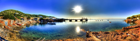 Playa De Las Salinas, Ibiza - obrazy stock