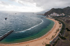 Playa de Las Teresitas Royaltyfria Bilder