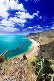 Playa de Las Teresitas general view vertical Stock Photo