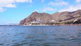 Playa de Las Teresitas, Tenerife almacen de video