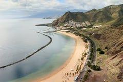 Playa de Las Teresitas, Tenerife, canario, España, Europa imágenes de archivo libres de regalías