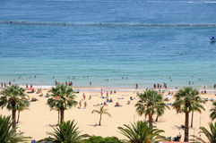 Playa de Las Teresitas, Tenerife Espagne Photographie stock