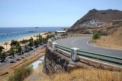 Playa de Las Teresitas, Tenerife Spagna Fotografia Stock Libera da Diritti