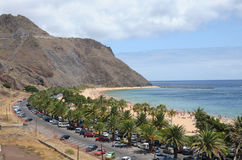 Playa de Las Teresitas, Tenerife Spanien Stockfotos