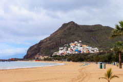 Playa de Las Teresitas Tenerife Royalty Free Stock Photos