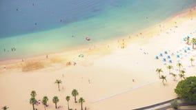 Playa de Las Teresitas, Tenerife almacen de metraje de vídeo