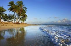 Playa de Las Terrenas, península de Samana imagen de archivo libre de regalías