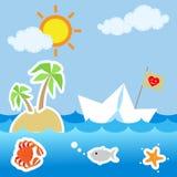 Playa de las vacaciones de verano Fotografía de archivo libre de regalías