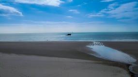 Playa de Le Portel Foto de archivo