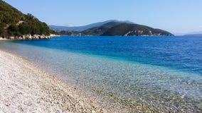 Playa de Lefkada Desini Imagen de archivo libre de regalías