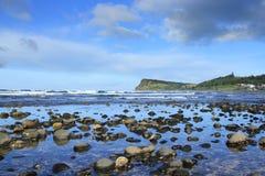 Playa de Lennox Head Foto de archivo libre de regalías