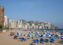 Playa de Levante, Benidorm. Imagenes de archivo