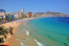 Playa de Levante, Benidorm, Espanha imagens de stock royalty free