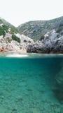 Playa de Limnionas Fotografía de archivo