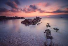 Playa de Lipite Foto de archivo libre de regalías
