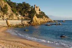 Playa de Lloret de marcha imagen de archivo libre de regalías