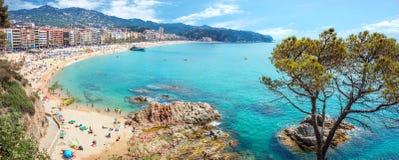 Playa de Lloret de marcha Costa Brava, Cataluña, España Fotos de archivo libres de regalías