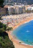 Playa de Lloret de marcha (costa Brava, España) Imagenes de archivo