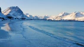Playa de Lofoten del invierno metrajes