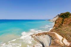 Playa de Loga en Corfú, Grecia Fotos de archivo