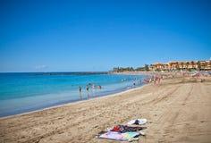 Playa De Los angeles Dukt plaża. Tenerife Zdjęcie Royalty Free