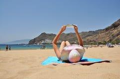 Playa De Los angeles Teresitas. Tenerife, kanarki Fotografia Stock
