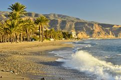 Desert coastline Almeria Spain royalty free stock images