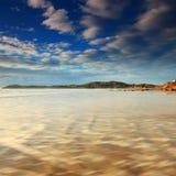 Playa de los cantos rodados de Moeraki Imagen de archivo