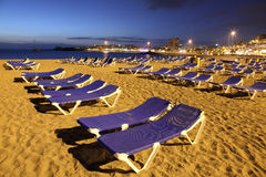Playa de los Cristianos at dusk Royalty Free Stock Photo