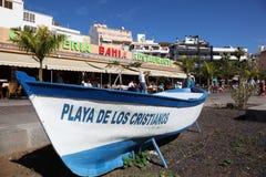 Playa DE Los Cristianos, Tenerife Stock Afbeeldingen